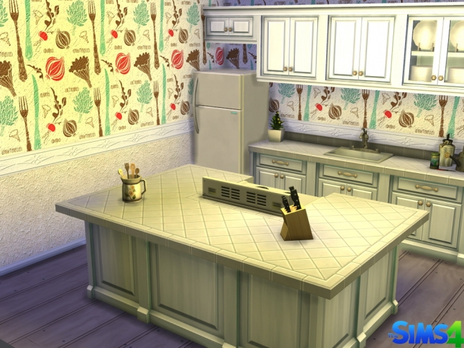 Sims 4 Kitbar Wall by Red Queen at ihelensims