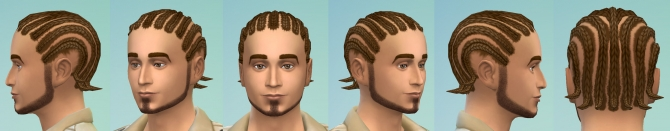 Sims 4 Short cornrows by necrodog at Mod The Sims