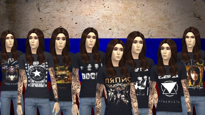 Sims 4 Russian bands T Shirts by FrankVjecy at Mod The Sims