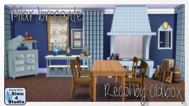 Door, Kitchen, Pilar Brocante Dining, Rugs recolors at All 4 Sims image 3815 Sims 4 Updates