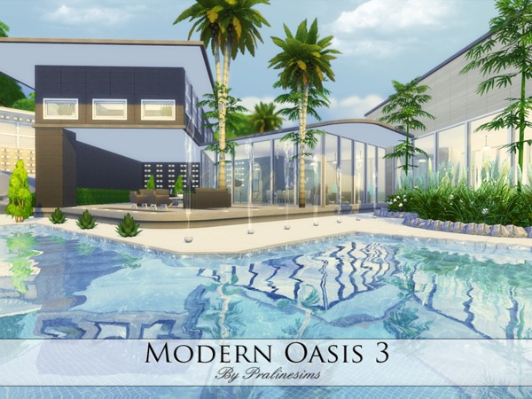 Modern Oasis 3 home by Pralinesims at TSR image 386 Sims 4 Updates