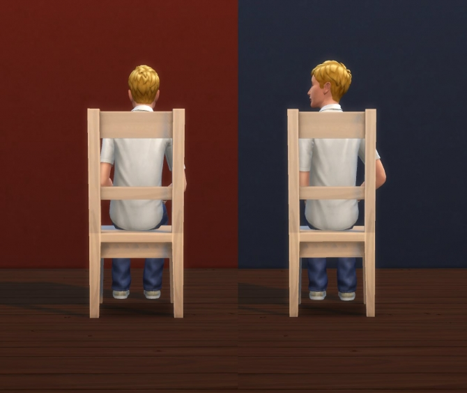 """Sims 4 Less Clunky """"Sooner or Ladder"""" Chair by plasticbox at Mod The Sims"""