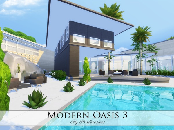 Modern Oasis 3 home by Pralinesims at TSR image 396 Sims 4 Updates