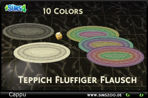 Flausch Fluffy carpet by Cappu at Blacky's Sims Zoo image 397 Sims 4 Updates