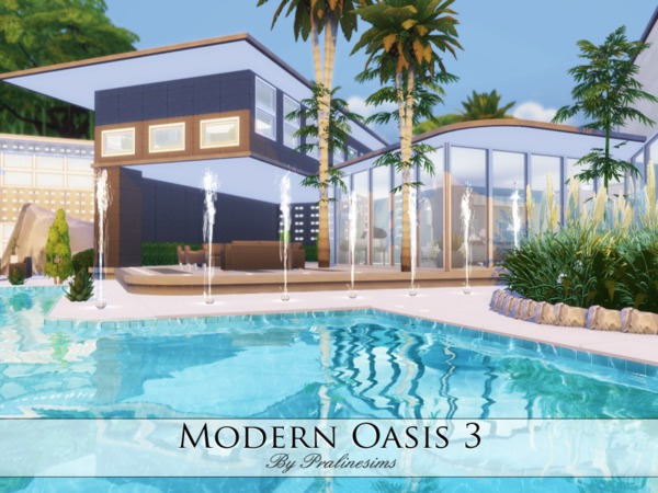 Modern Oasis 3 home by Pralinesims at TSR image 406 Sims 4 Updates