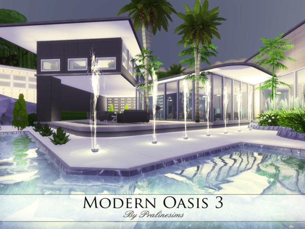 Modern Oasis 3 home by Pralinesims at TSR image 4110 Sims 4 Updates