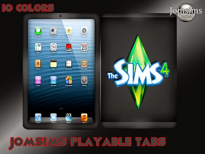TABLETS playable 10 colors at Jomsims Creations image 420 Sims 4 Updates