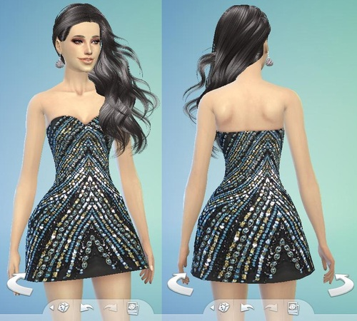 Dress Ruched Party at Tatyana Name image 4210 Sims 4 Updates