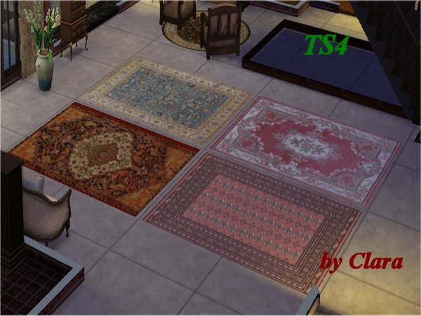 Sims 4 Door, Kitchen, Pilar Brocante Dining, Rugs recolors at All 4 Sims