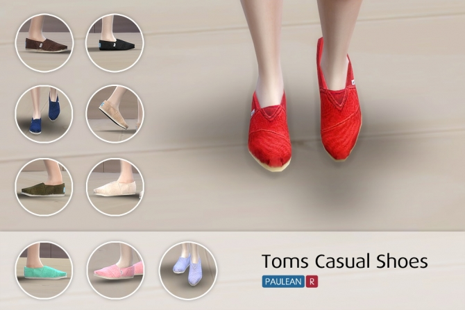 Sims 4 Toms Casual Shoes at Paulean R