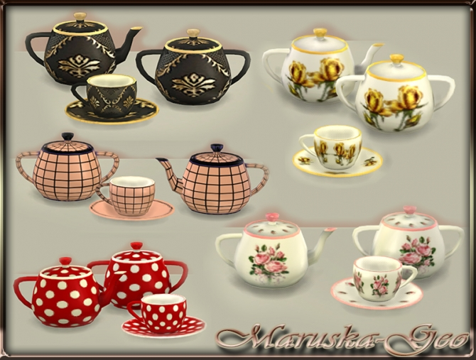 Small tea set at Maruska Geo image 4719 Sims 4 Updates