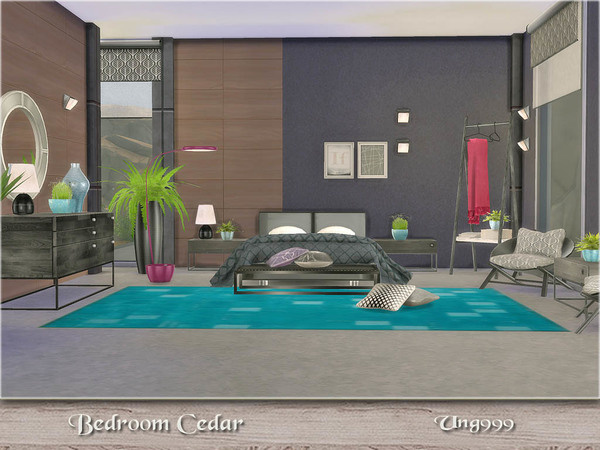 Cedar bedroom by ung999 at TSR image 4918 Sims 4 Updates