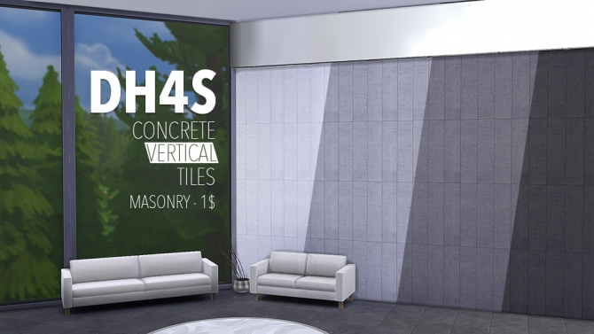 Sims 4 Concrete Tiles by Samuel at DH4S