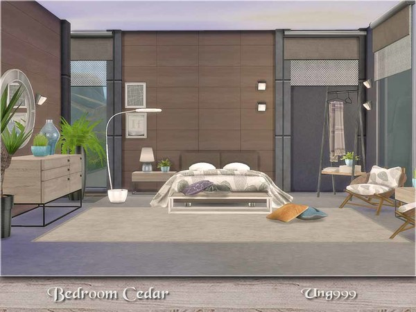 Cedar bedroom by ung999 at TSR image 5016 Sims 4 Updates