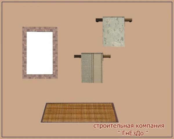 Sims 4 Brick bathroom set at Sims by Mulena