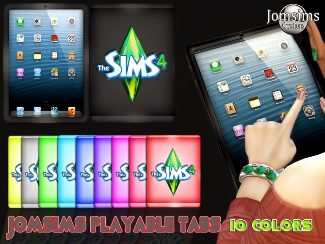 TABLETS playable 10 colors at Jomsims Creations image 517 Sims 4 Updates