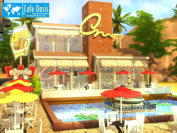 Cafe Oasis by BrandonTR at Tukete image 520 Sims 4 Updates