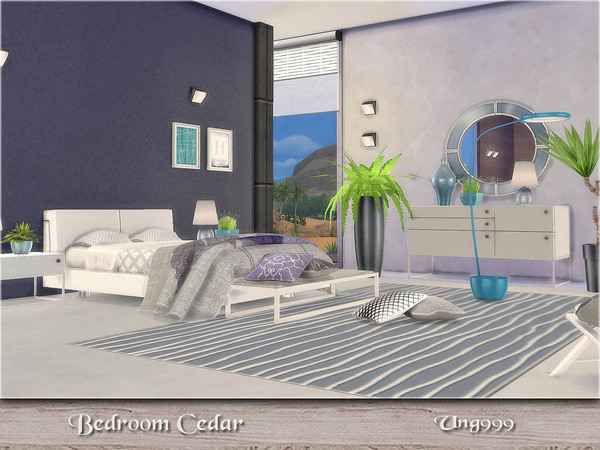 Cedar bedroom by ung999 at TSR image 5317 Sims 4 Updates