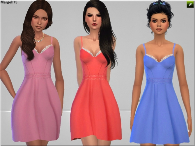 Sims 4 Pretty Little Dress by Margie at Sims Addictions