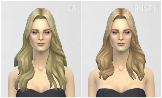 GP 01 Long Wavy Parted hair edit at Rusty Nail image 5518 Sims 4 Updates
