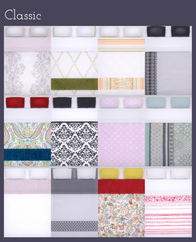 Sims 4 All beddings on OM's Sofia matress at Saudade Sims