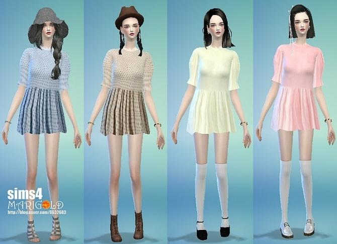 Sims 4 Long blouse at Marigold