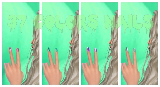 37 colors nails at Lovely Sims4 image 569 Sims 4 Updates