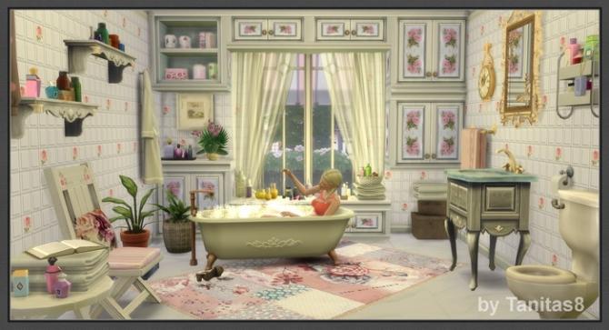 Cloud Of Roses Shabby Chic House At Tanitas8 Sims 187 Sims 4