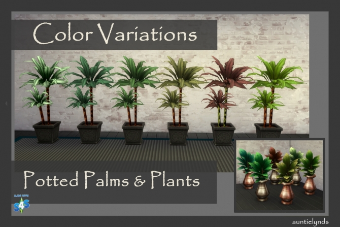 Potted Palms & plants by auntielynds at Mod The Sims image 576 Sims 4 Updates