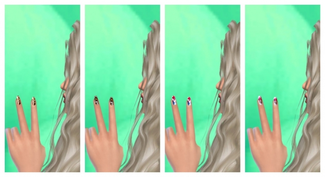 37 colors nails at Lovely Sims4 image 579 Sims 4 Updates