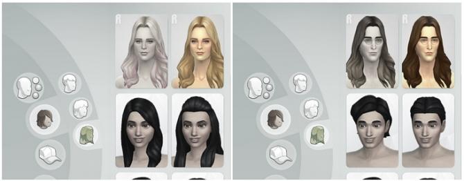 GP 01 Long Wavy Parted hair edit at Rusty Nail image 5816 Sims 4 Updates