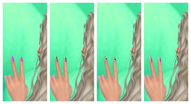 37 colors nails at Lovely Sims4 image 588 Sims 4 Updates
