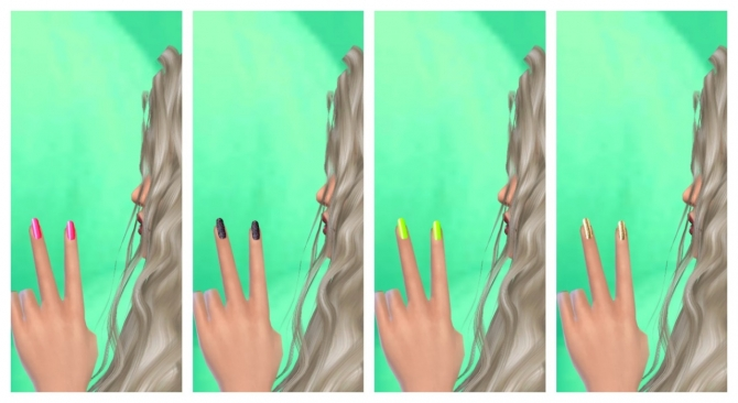 37 colors nails at Lovely Sims4 image 5911 Sims 4 Updates
