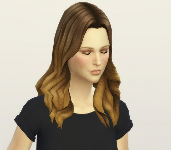 GP 01 Long Wavy Parted Ombre hair edit at Rusty Nail image 5920 Sims 4 Updates