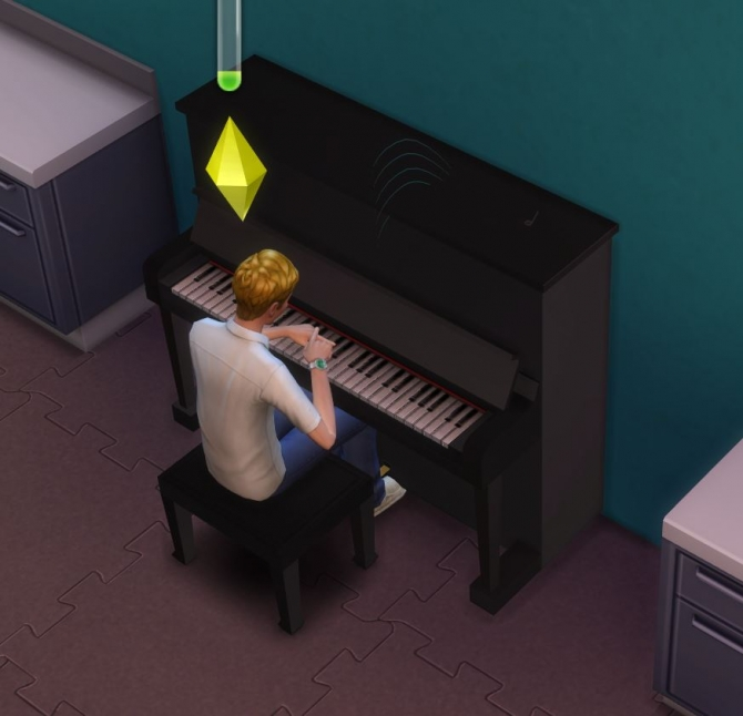 Sims 4 Simple Upright Piano by Shredded ugly.breath at Mod The Sims