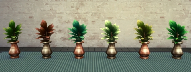 Sims 4 Potted Palms & plants by auntielynds at Mod The Sims