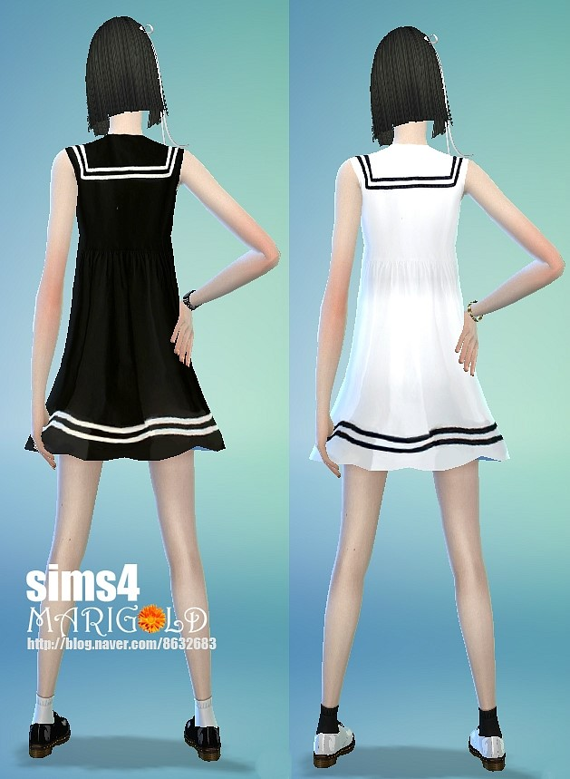 Sailor Onepiece Dress At Marigold 187 Sims 4 Updates