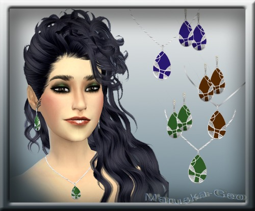 Sims 4 Bravo necklace and earrings at Maruska Geo