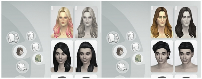 GP 01 Long Wavy Parted Ombre hair edit at Rusty Nail image 6221 Sims 4 Updates