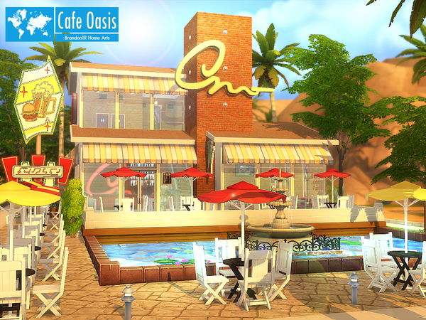 Cafe Oasis by BrandonTR at Tukete image 629 Sims 4 Updates