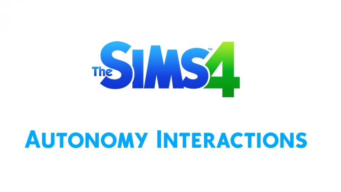 Sims 4 Autonomous Interactions by weebl 101 at Mod The Sims