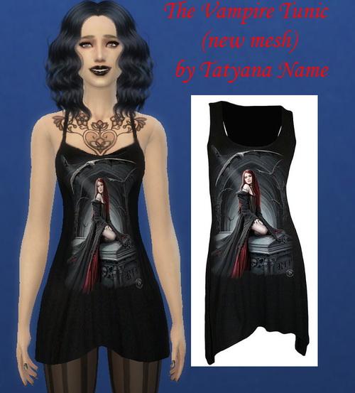 Sims 4 The Vampire Tunic at Tatyana Name