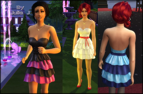 Sims 4 Frilly Dress Recolours at Julie J