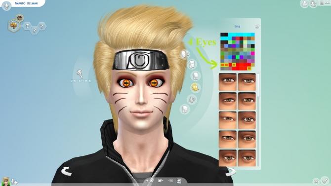 Sims 4 Naruto's Eyes + Whiskers + Seal at NG Sims3