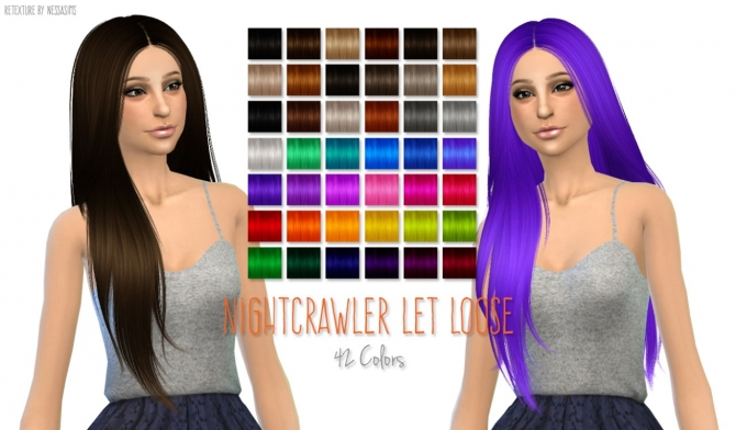 5 Hair retextures at Nessa Sims image 6316 Sims 4 Updates