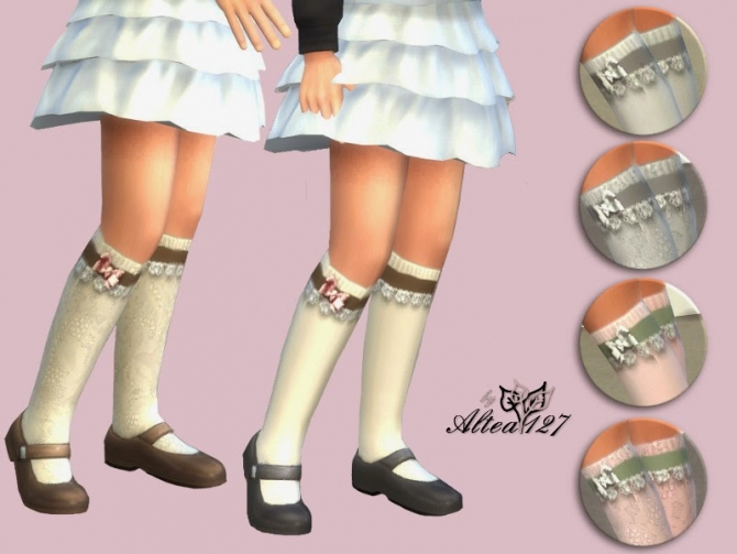 Romantic socks girl at Altea127 SimsVogue image 639 Sims 4 Updates