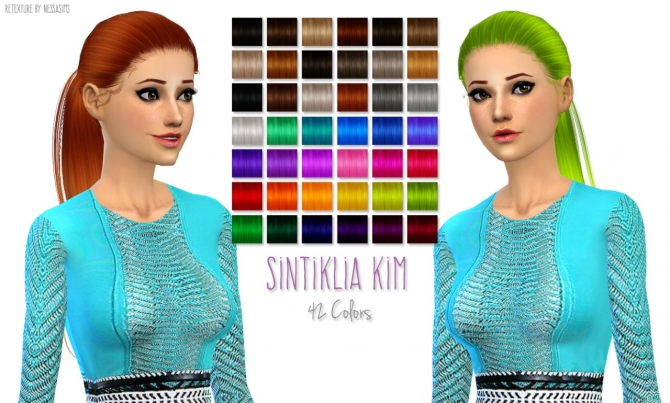 5 Hair retextures at Nessa Sims image 6517 Sims 4 Updates