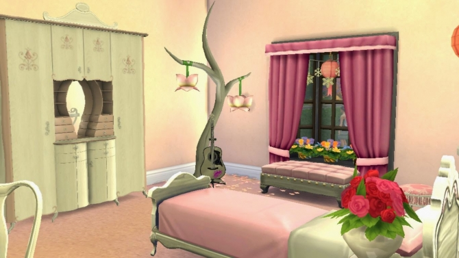 Dreamy for girls at sanjana sims sims 4 updates for Bedroom designs sims 4