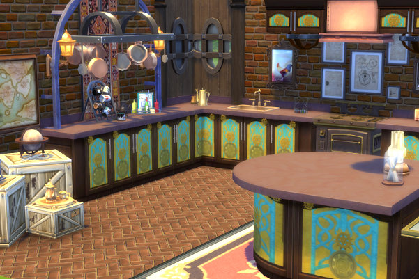 Steampunk Kitchen By Satureja Antares At Blacky S Sims Zoo