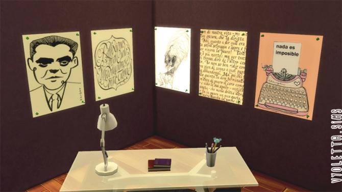 17 posters for writers at Mandarina's Sim World image 6611 Sims 4 Updates